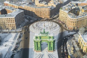 The Narvskaya Triumphal Gates.