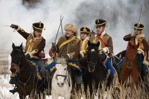 Reconstruction of the war with Napoleon and the Great Patriotic War.