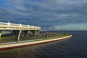 New metro stations in St. Petersburg.