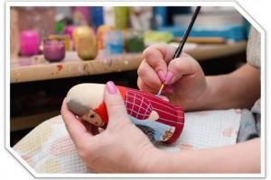 Мастер-класс по росписи матрёшки